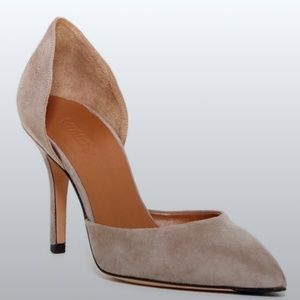 Vince Celeste d'Orsay Pointed Toe Pumps - Taupe